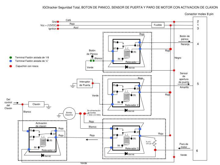 Conector molex 8 pin