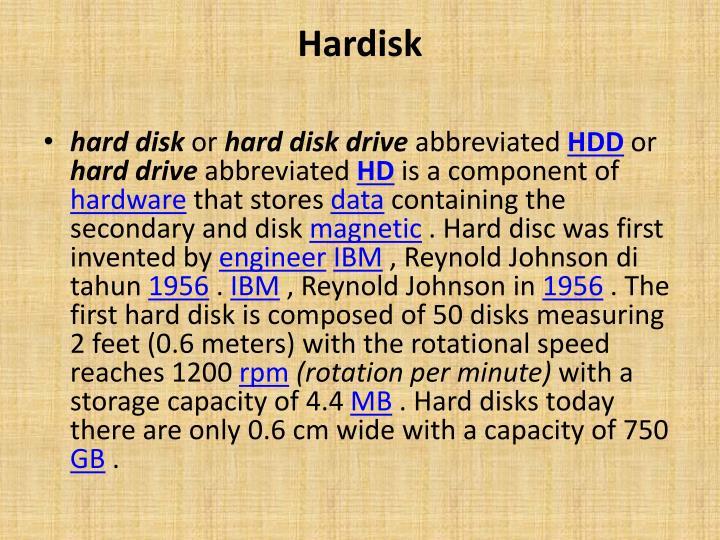 Hardisk