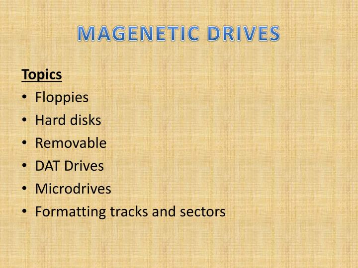Magenetic drives