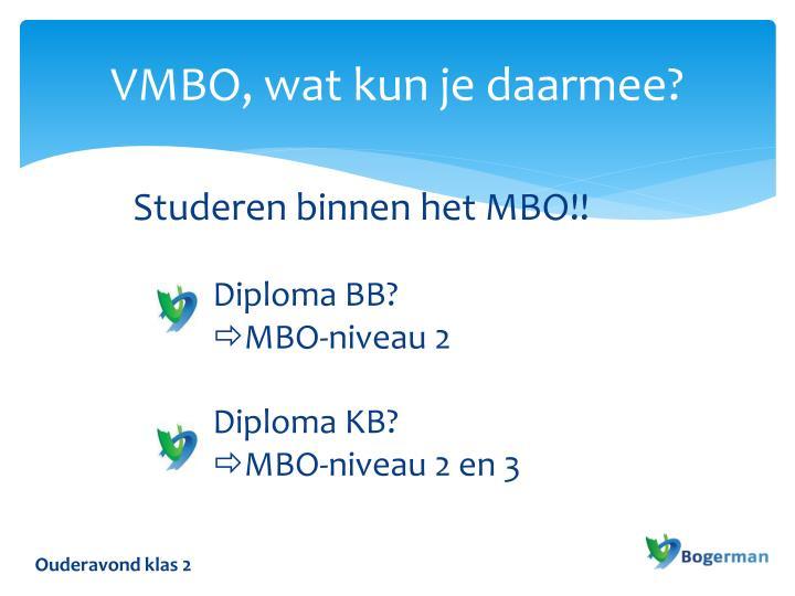 VMBO, wat kun je daarmee?