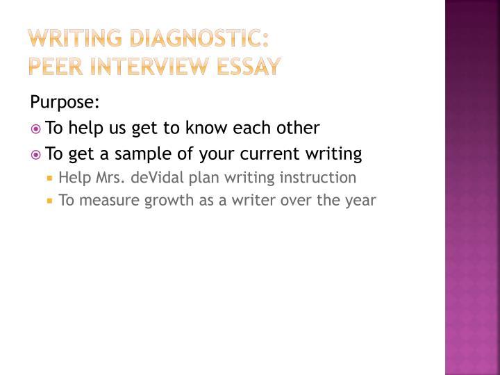 Writing diagnostic: