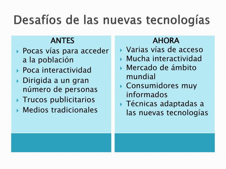 Desafíos de las nuevas tecnologías