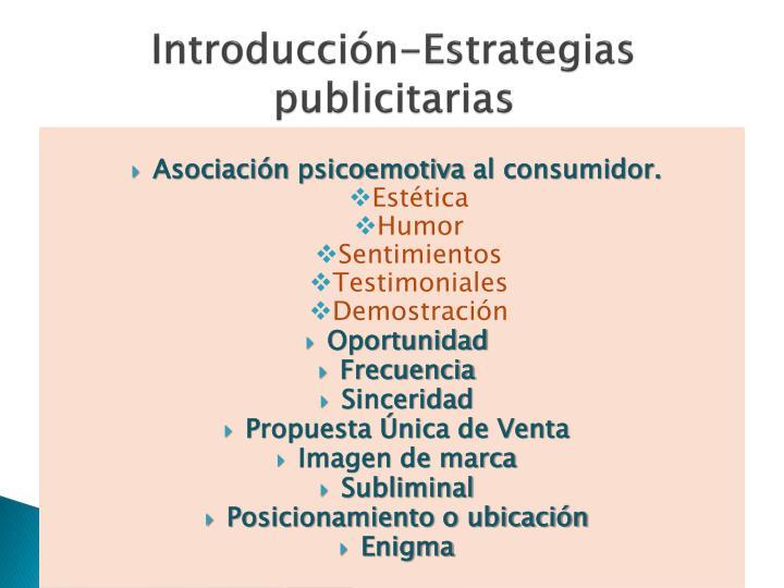 Introducción-Estrategias publicitarias