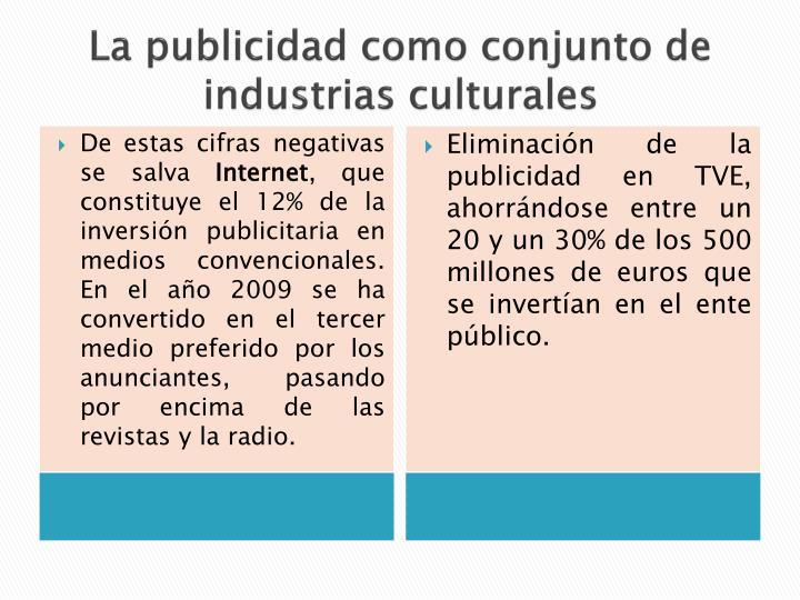 La publicidad como conjunto de industrias culturales