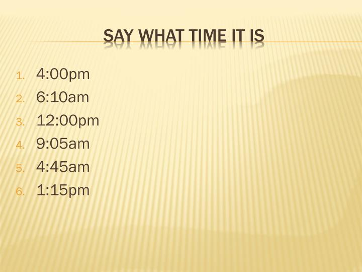 4:00pm
