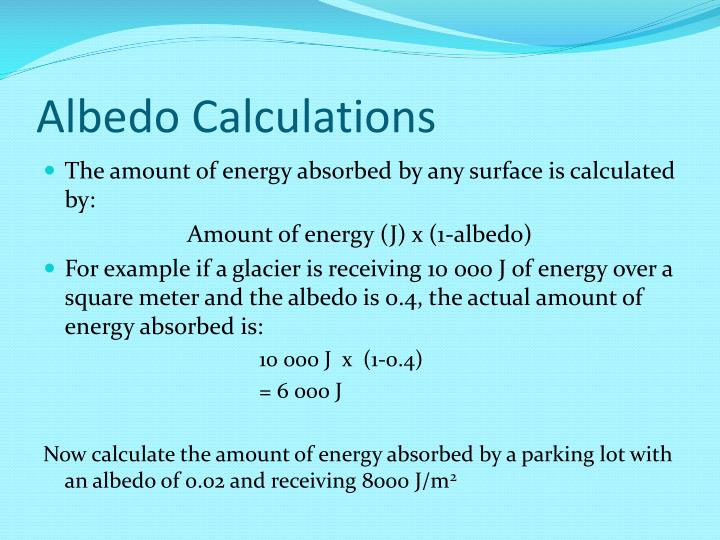 Albedo Calculations