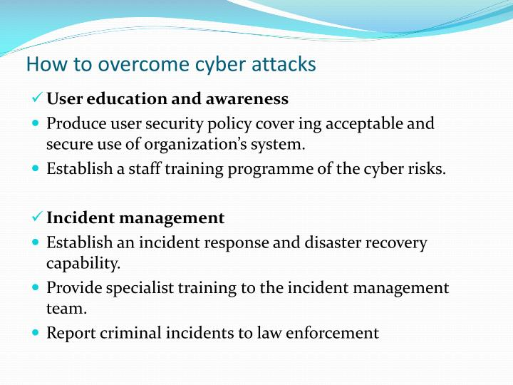 How to overcome cyber attacks