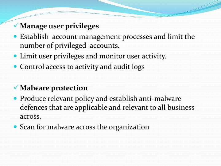 Manage user privileges