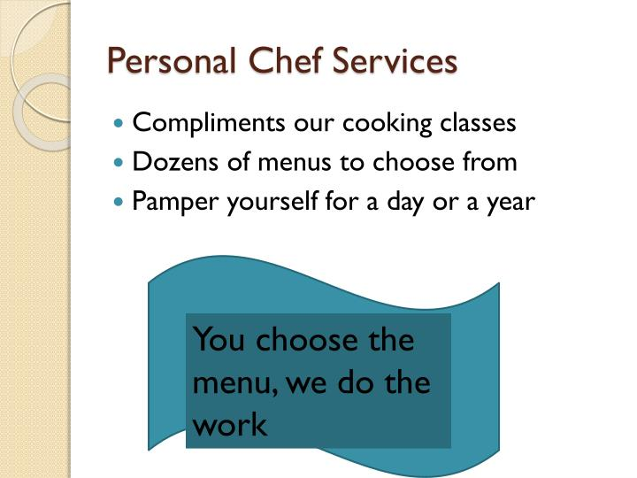Personal Chef Services