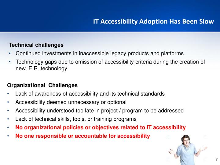 IT Accessibility Adoption Has Been Slow