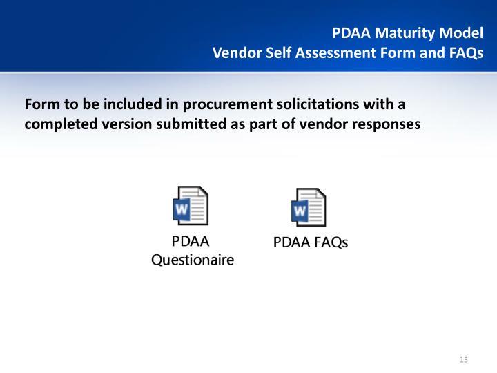 PDAA Maturity Model