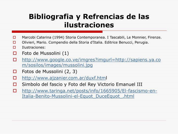 Bibliografia y Refrencias de las ilustraciones
