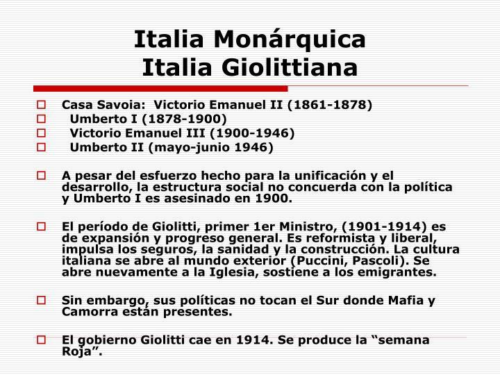 Italia Monárquica