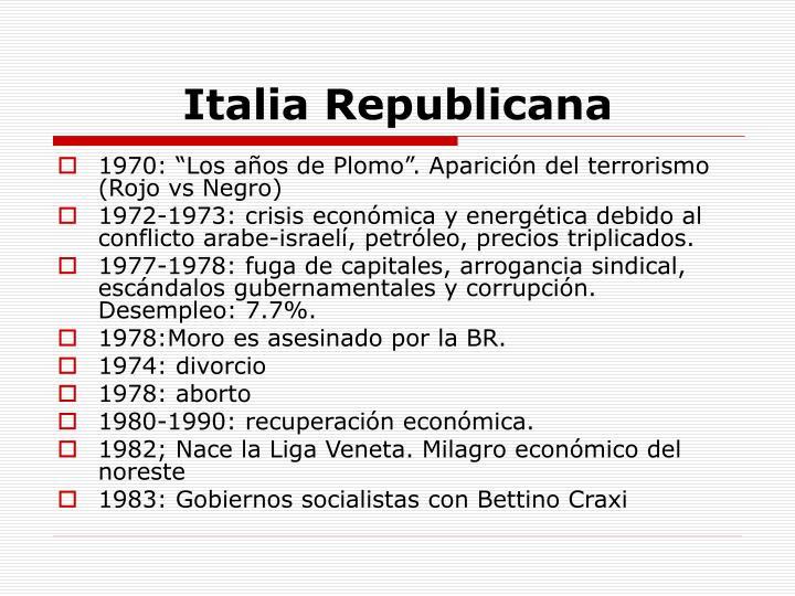 Italia Republicana