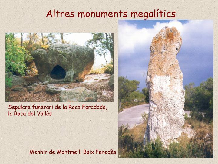 Altres monuments megalítics