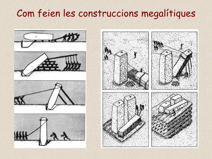 Com feien les construccions megalítiques