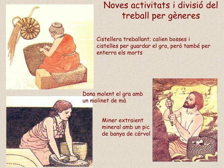 Noves activitats i divisió del treball per gèneres