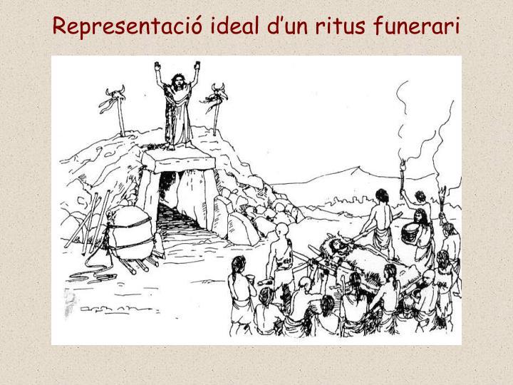 Representació ideal d'un ritus funerari