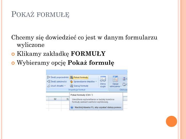 Pokaż formułę