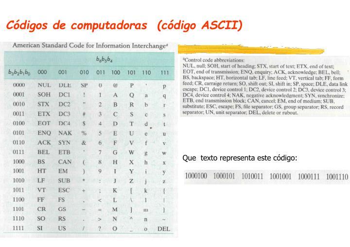 Códigos de computadoras