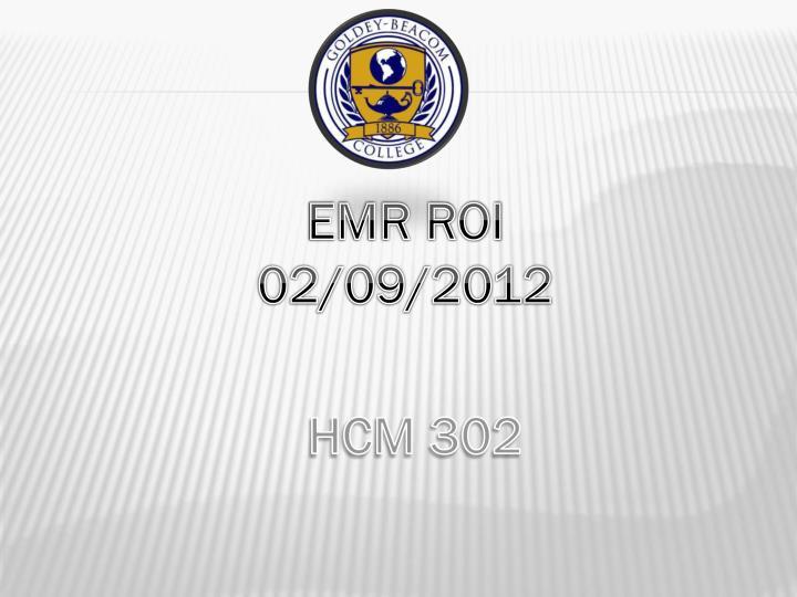 EMR ROI