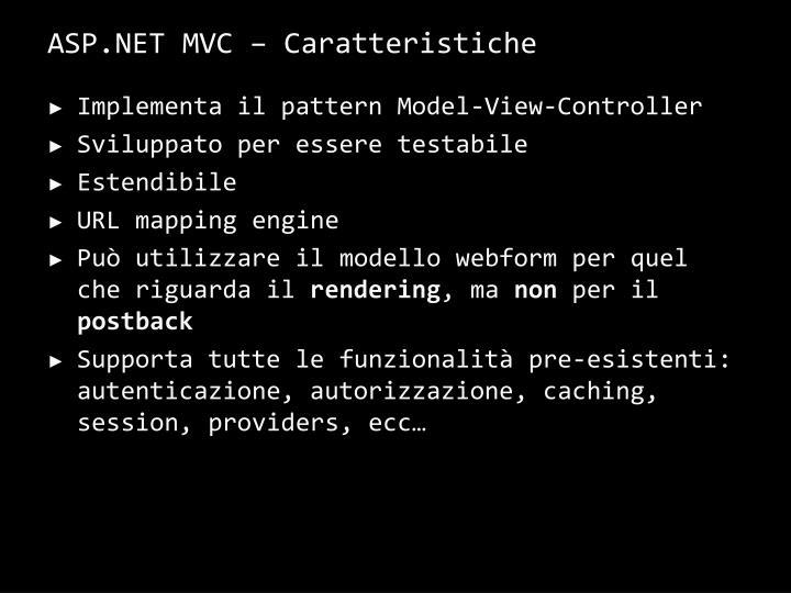 ASP.NET MVC –