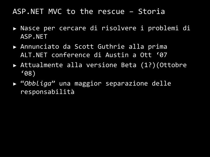 ASP.NET MVC to the rescue –