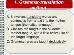1 grammar translation method