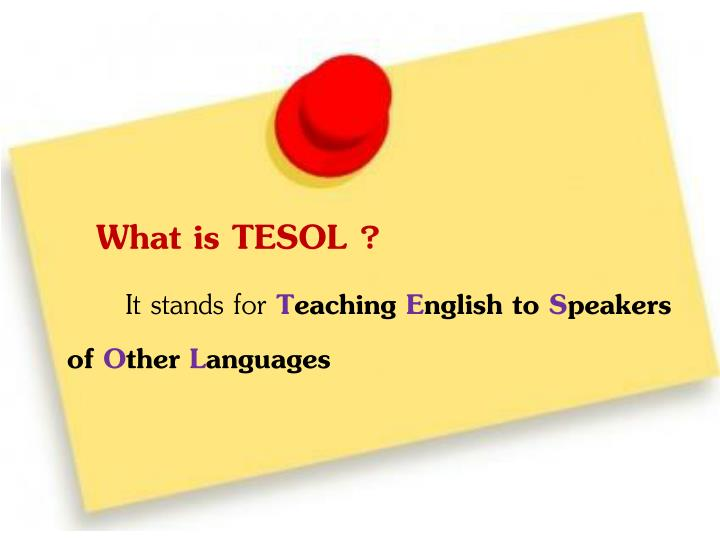 What is TESOL ?