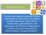 what is mathematics
