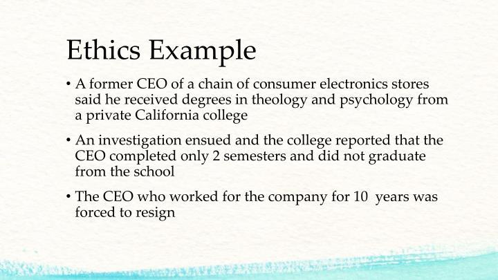 Ethics Example