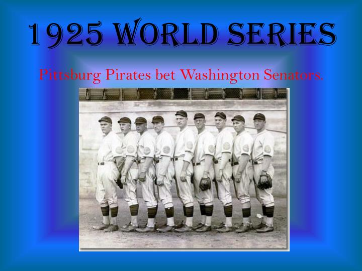 1925 World Series