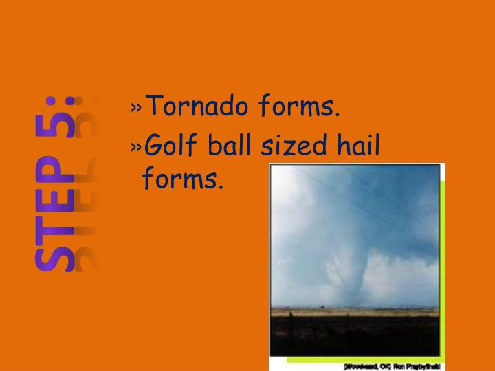 Tornado forms.
