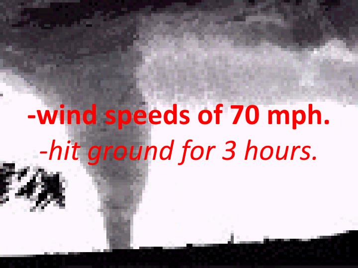 -wind speeds of 70 mph.