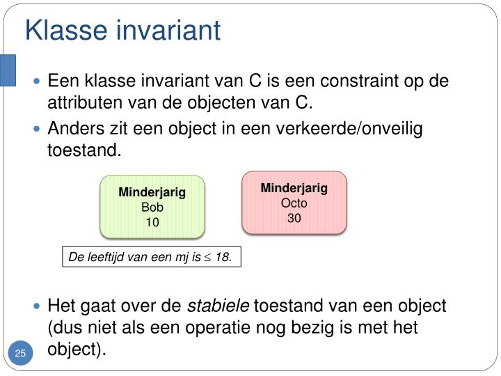 Klasse invariant