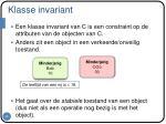 klasse invariant
