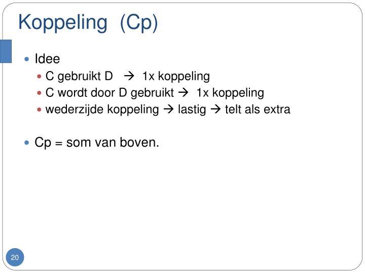 Koppeling  (Cp)