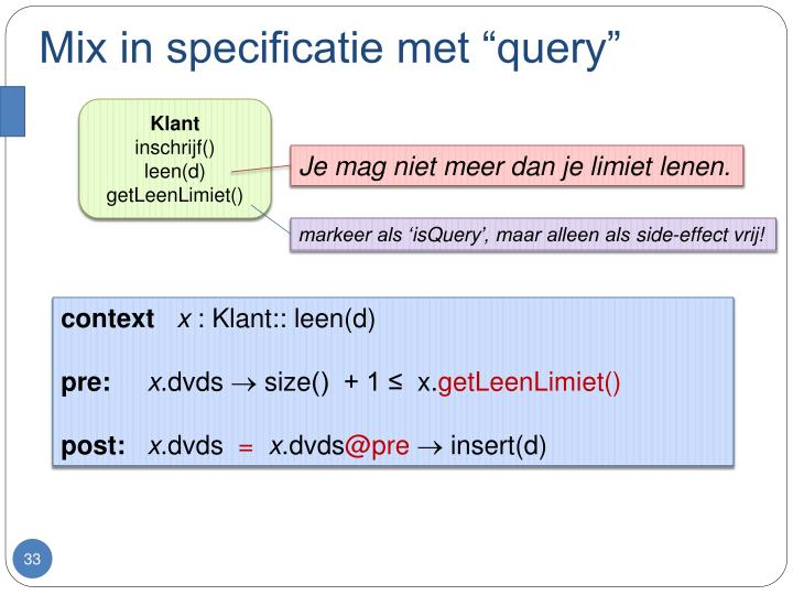 "Mix in specificatie met ""query"""