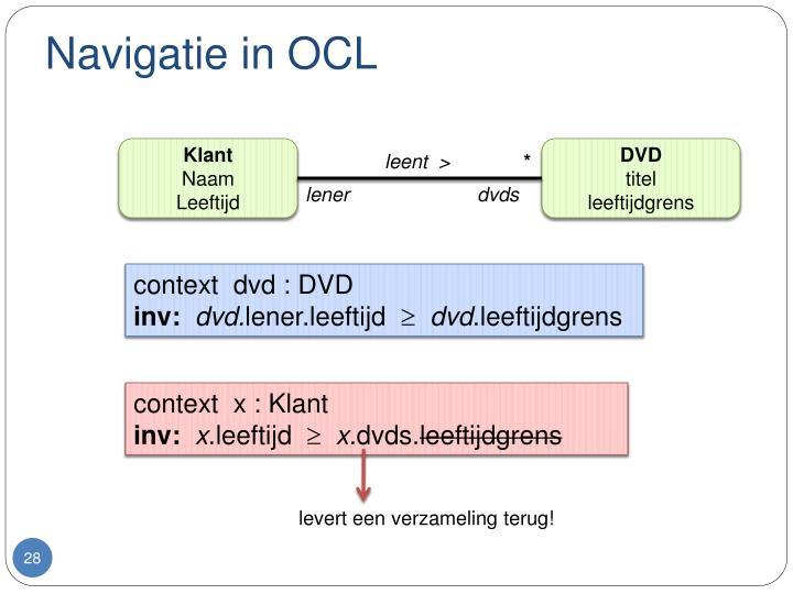 Navigatie in OCL