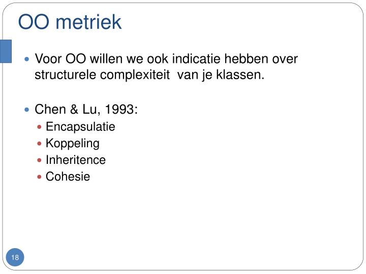 OO metriek