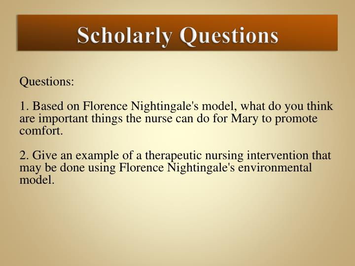 nursing theory paper florence nightingale The legacy of florence nightingale's  environmental theory: nursing research focusing on the impact of healthcare environments terri zborowsky, phd, edac objective: the purpose of this paper is to explore nursing research  that is focused on the impact of healthcare environments and that has resonance with the aspects of florence.