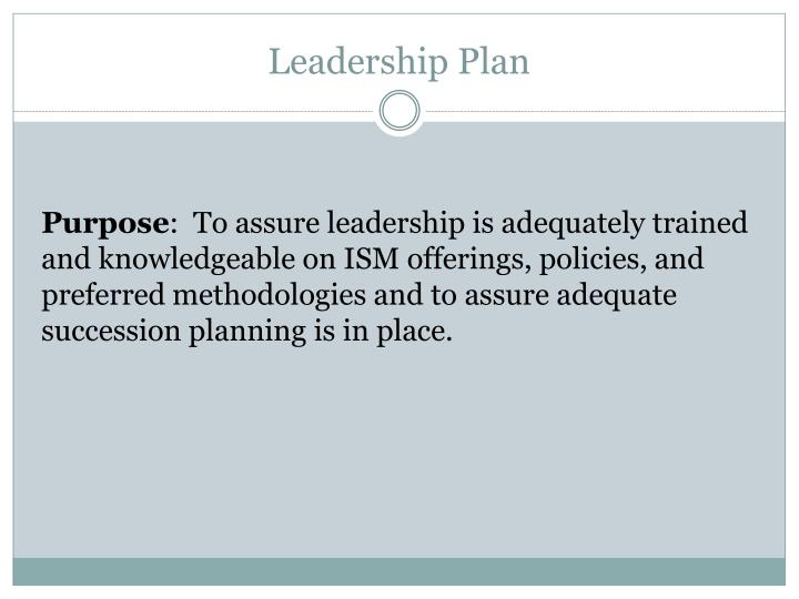 Leadership Plan