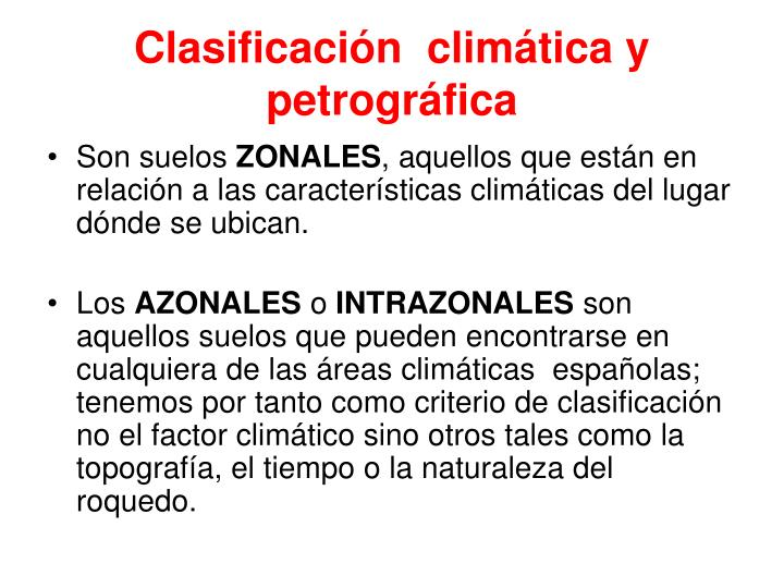 Clasificación  climática y