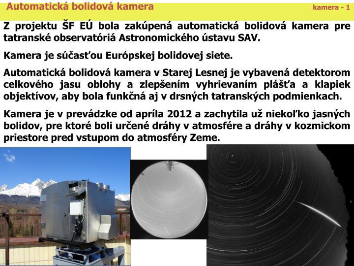 Automatická bolidová kamera