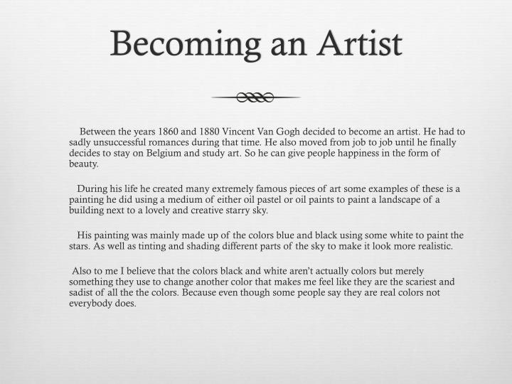 Becoming an Artist