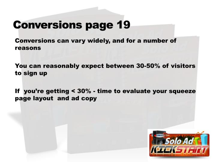 Conversions page 19