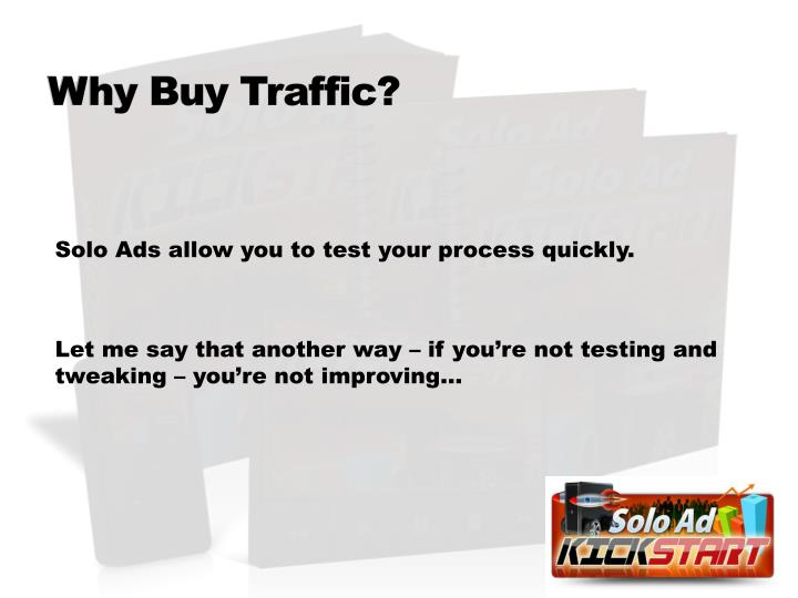 Why Buy Traffic?
