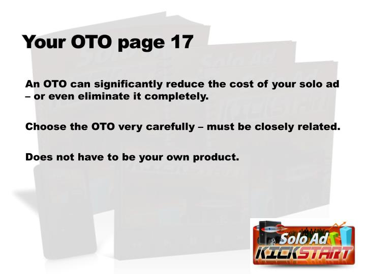 Your OTO page 17