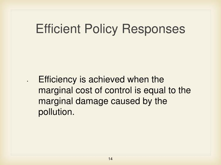 Efficient Policy Responses