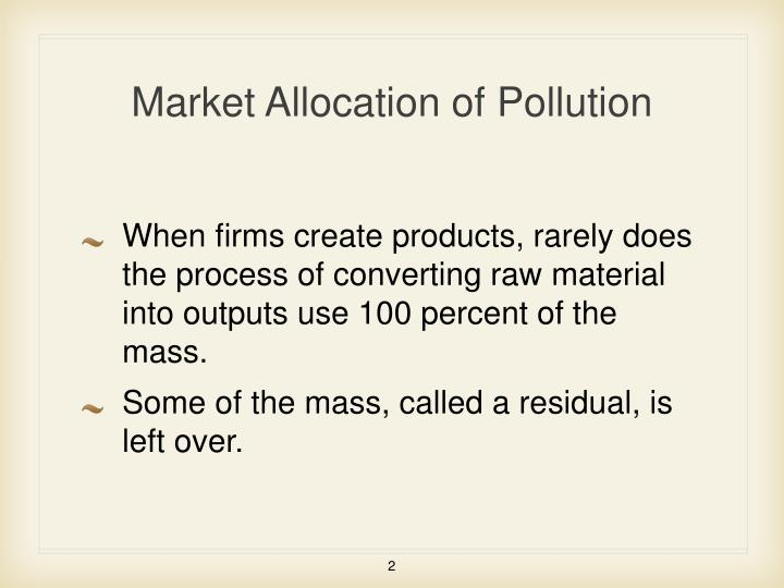 Market allocation of pollution